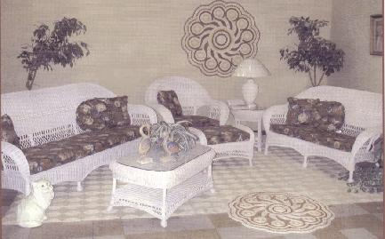 wicker living room or porch set #4736