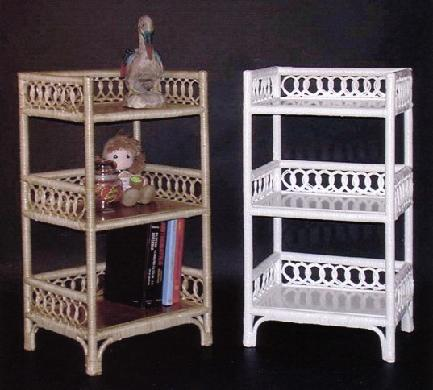 wicker storage shelf