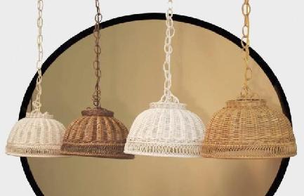 Wicker Swag Lamps