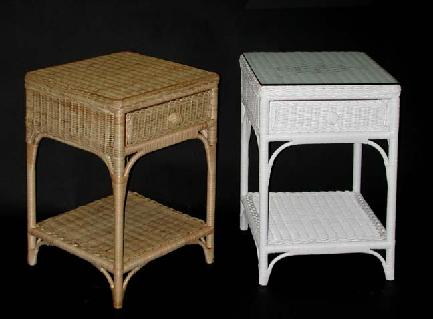 White Wicker Nightstand Wicker Bedside Table
