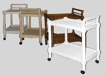 wicker tea cart for dining room