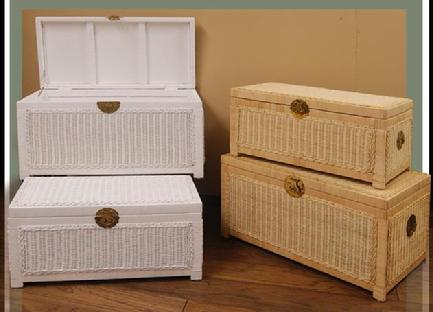 wicker storage chests