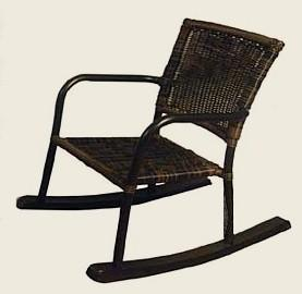 outdoor child rocker espresso color stock #0238R