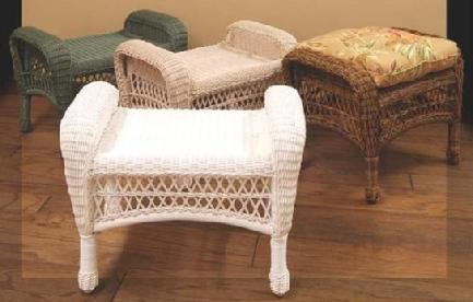 Wicker Ottoman Wicker Footstool Outdoor Ottoman