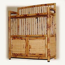 rattan wall shelf for your bathroom