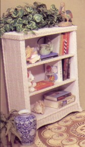 modern design rattan bookshelf stock #4176