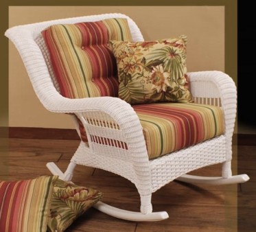 resin wicker outdoor rocking chair stock #4209P