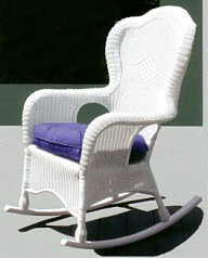 outdoor wicker rocker stock #4075