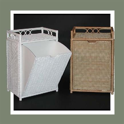 wicker hampers with tilt out bin