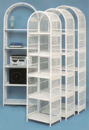 wicker arch shelf units in four (4) sizes