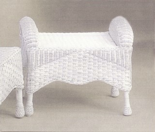 everyday wicker footstool stock #6210-9
