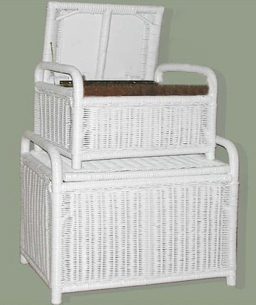 white wicker ottomans with storage stock #4671