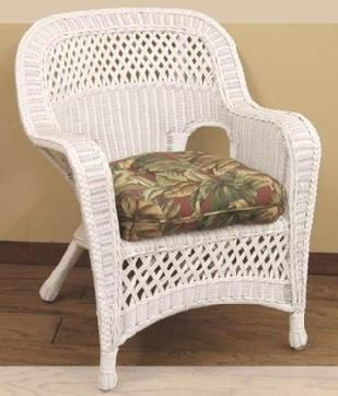 White Indoor Wicker Armchair