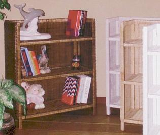standard wicker bookshelf stock #4404