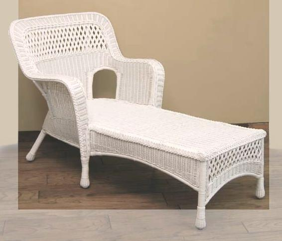 indoor wicker chaise lounge pictured in white