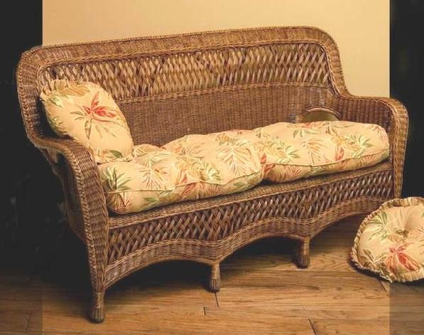 wicker couch pictured in brown