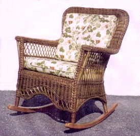 brown wicker rocker chair stock #8813-9