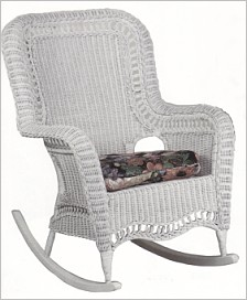 plus size white wicker rocker stock #4205