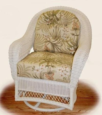 outdoor wicker swivel rocker stock #4737V