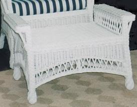 seaside style woven wicker ottoman