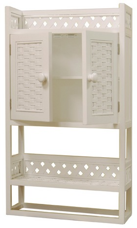 Wicker Bathroom Wall Shelf Wicker Wall Cabinet