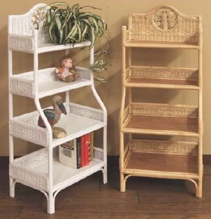 Wicker Storage Shelves | Wicker Corner Cabinet | Tall Shelf |