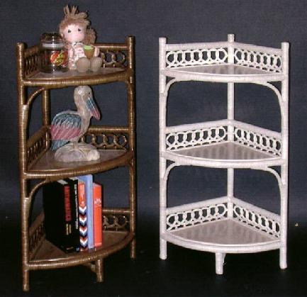 Fantastic Wicker Storage Shelves | Wicker Corner Cabinet | Tall Shelf | FM94